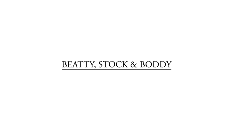 Beatty Stock and Boddy logo